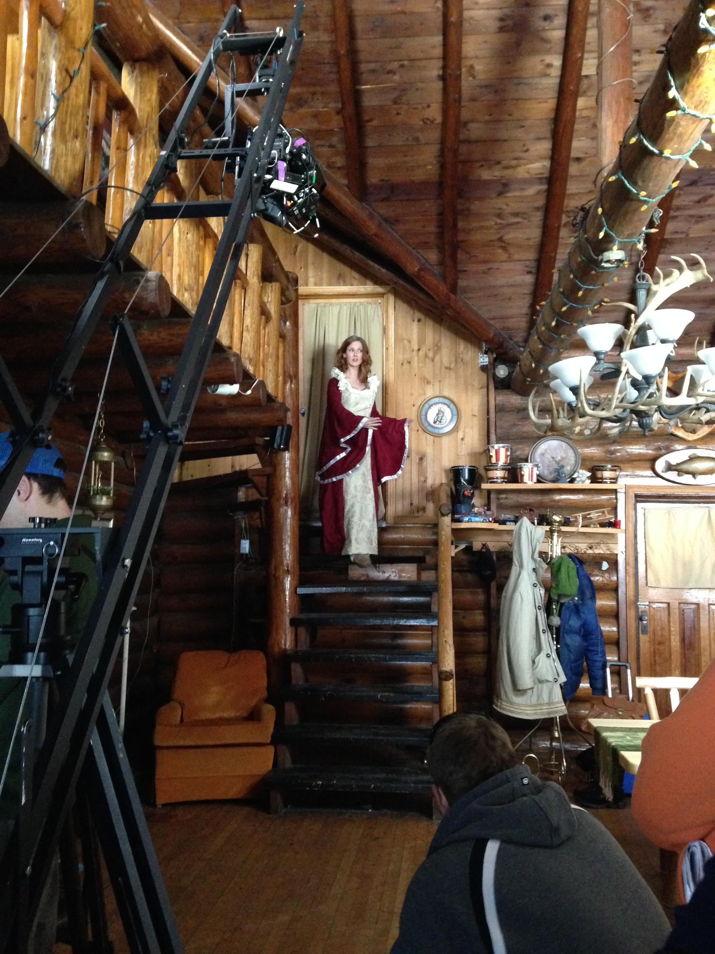 Jib shot, Sally's grand entrance. A Lot Like Marriage production, 2014.