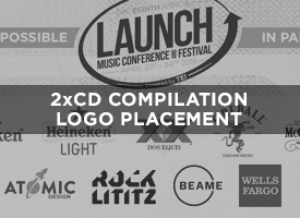 Every LAUNCH Attendee Bag includes the 2019 LAUNCH Music Conference & Festival 2XCD compilation, featuring some 40 artists performing on a LAUNCH Stage in 2019. This is one of the most recognizable annual promotions.   Price: $100