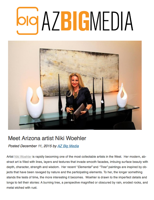 AZ Big Media \ Modern Luxury Scottsdale | Niki Woehler Scottsdale Abstract Artist