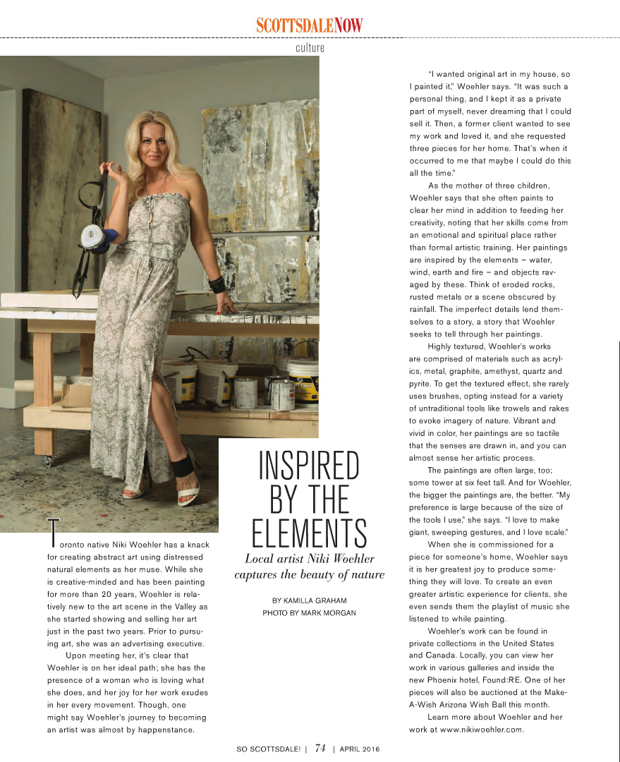 Contemporary Artist Niki Woehler | So Scottsdale Editorial