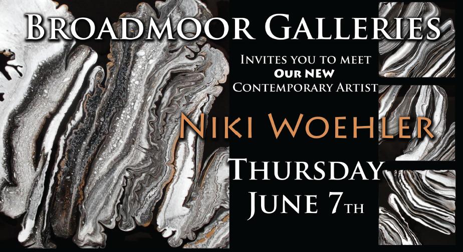 broadmoor gallery opening invite | Niki Woehler Abstract Artist
