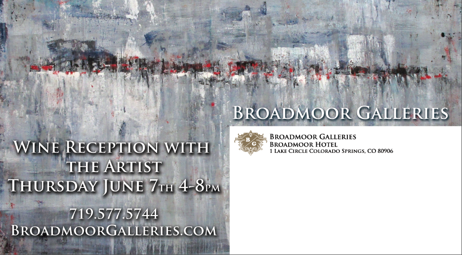 Broadmoor opening invite | Niki Woehler Abstract Artist Large Scale Art Canvas