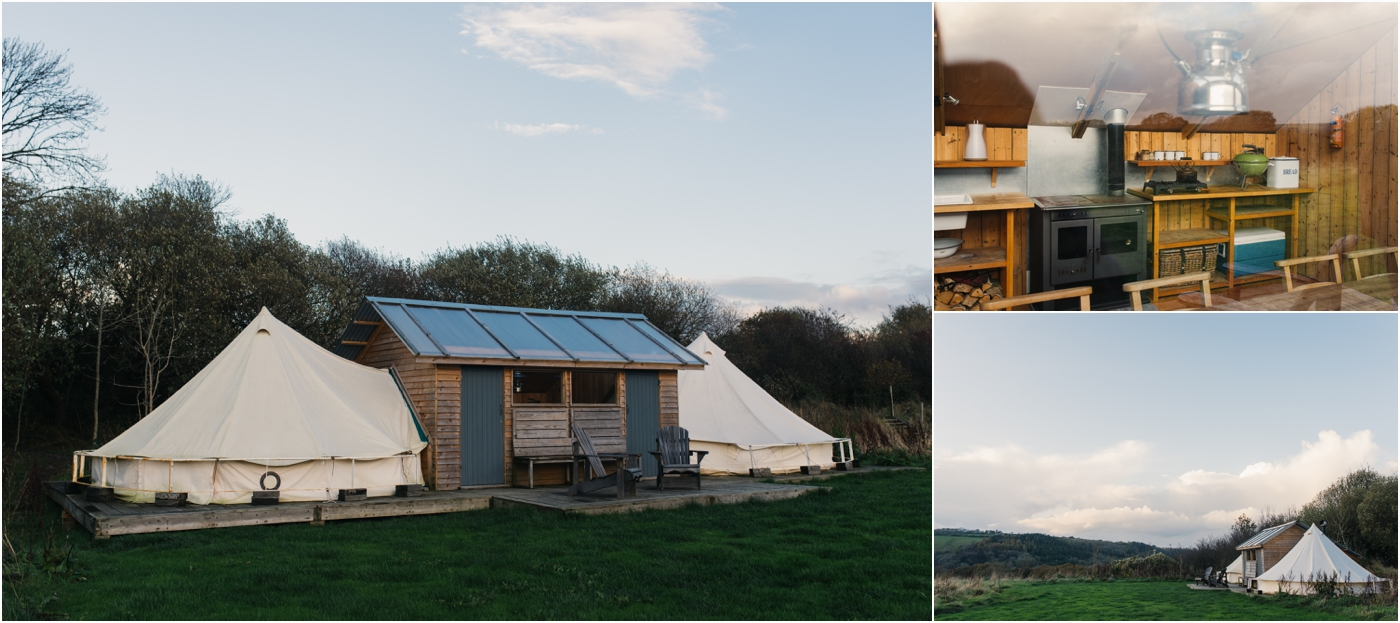 A Camp Shack - each section sleeps up to 5 and there is a shared kitchen in the middle.