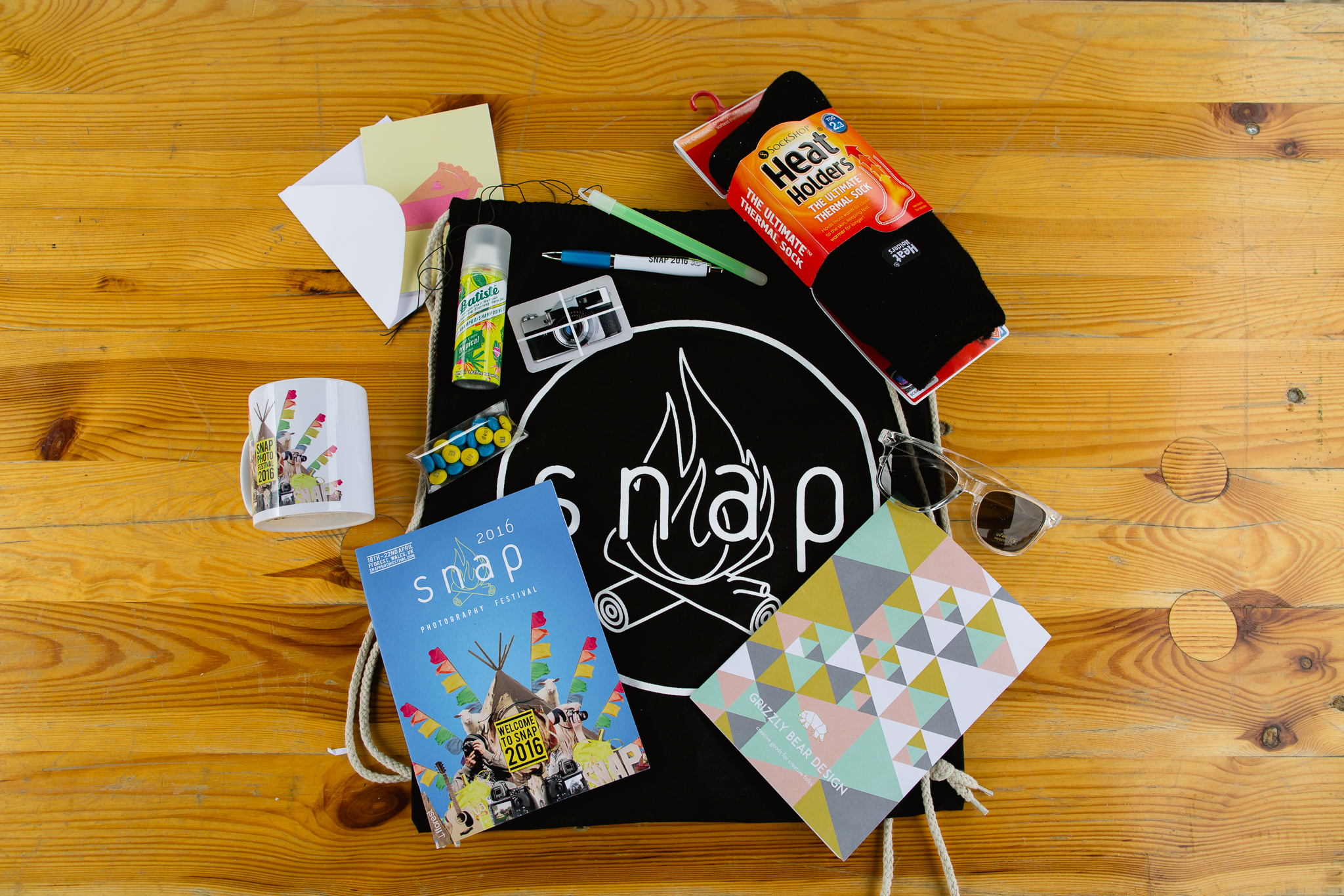 snap photography festival goodie bags