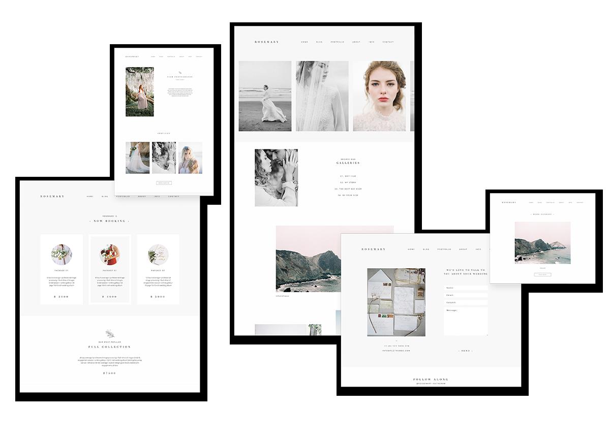 fine art film photography wordpress theme