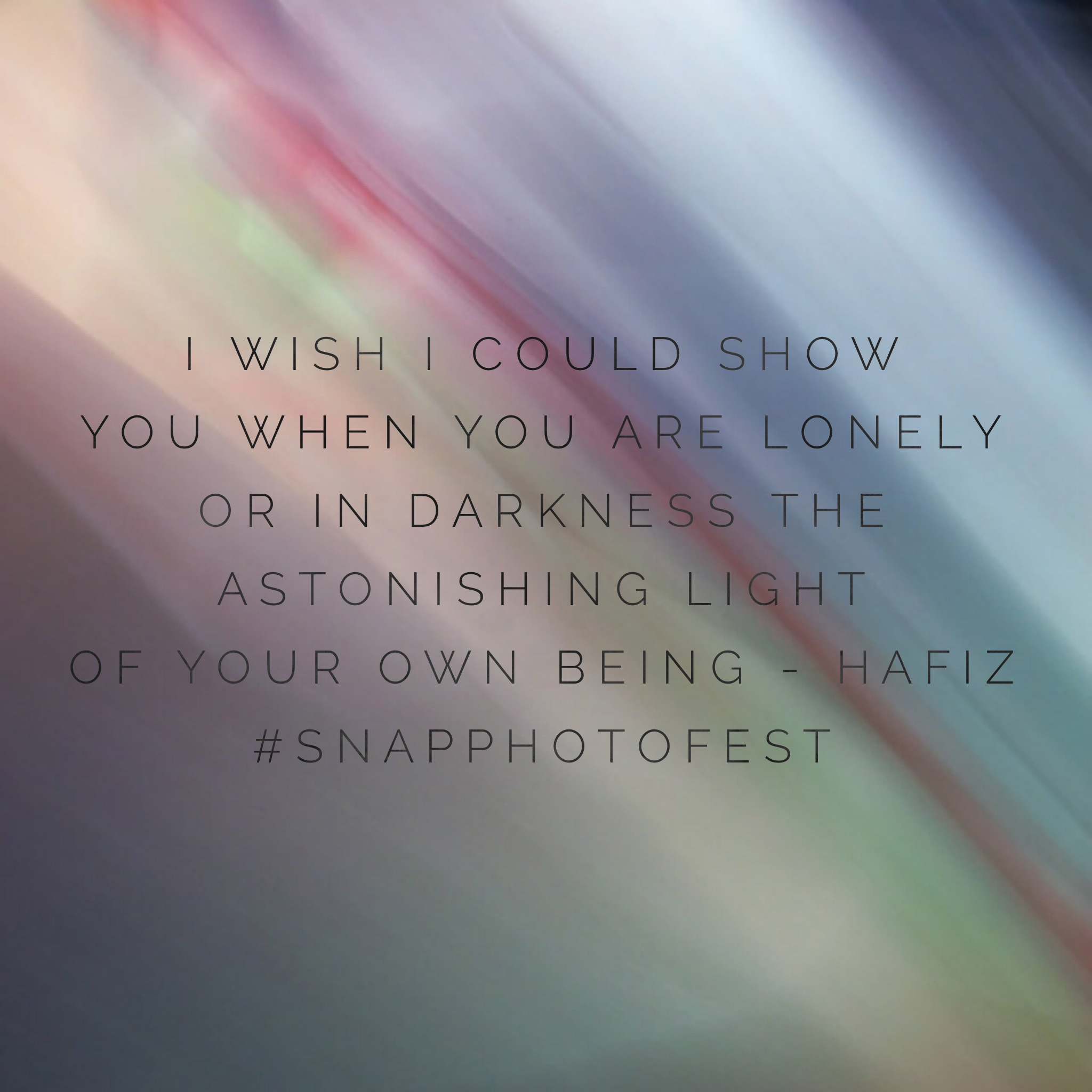 hafiz the astonishing light of your own being quote