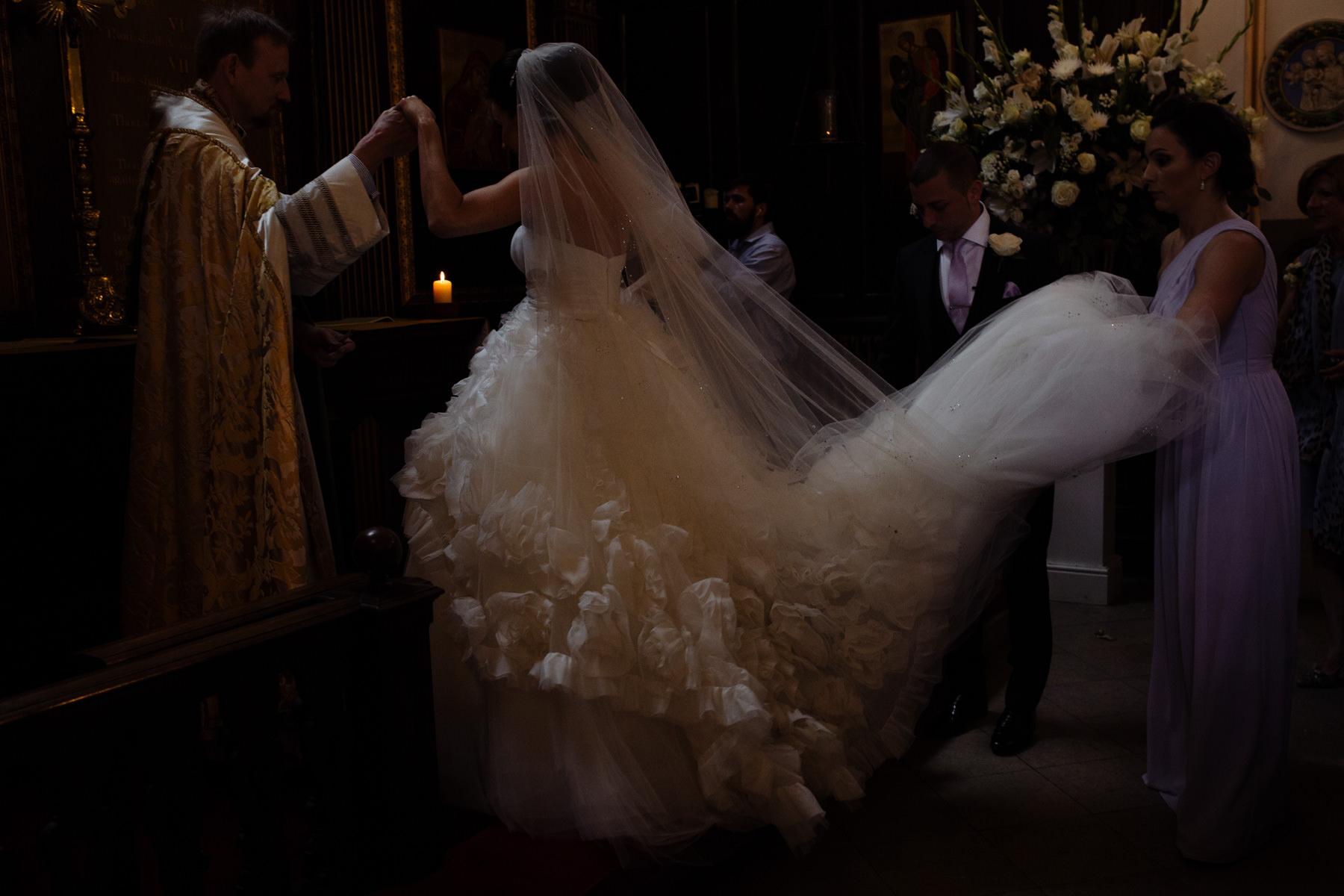 Grosvenor Chapel wedding photography claridges