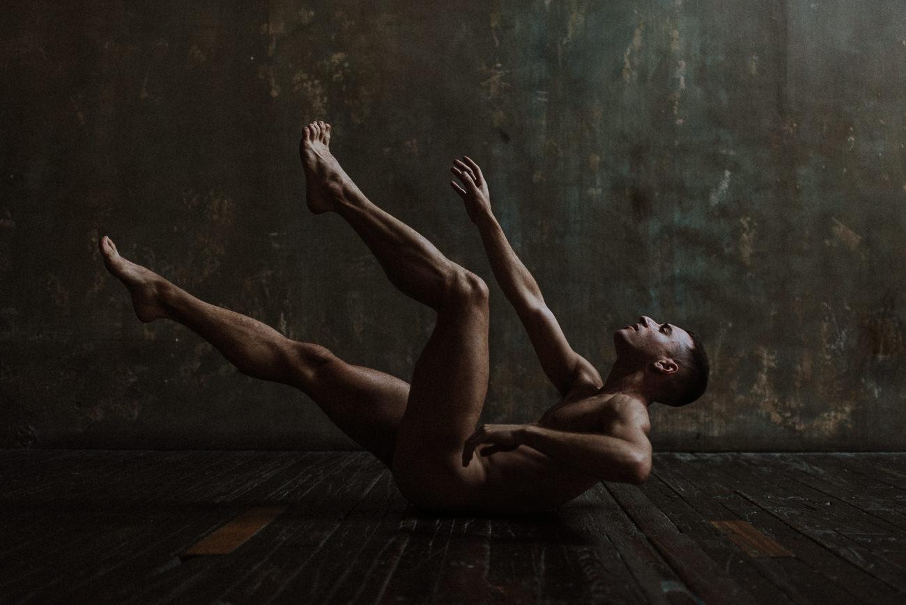 male boudoir studio photography