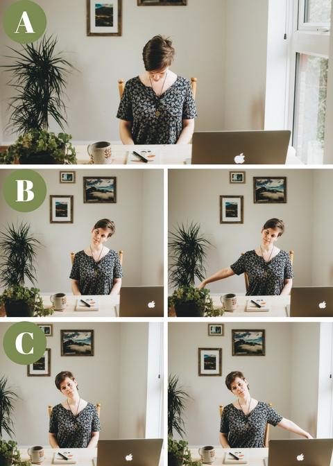desk yoga to stretch neck