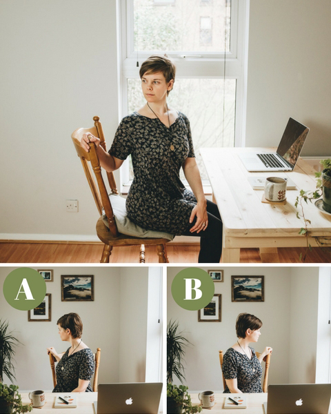 Office yoga twists at your desk