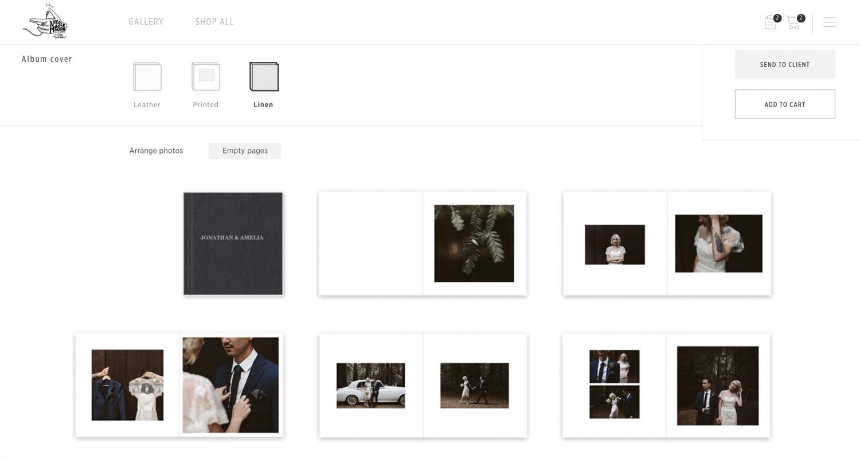 album design and sales photographers