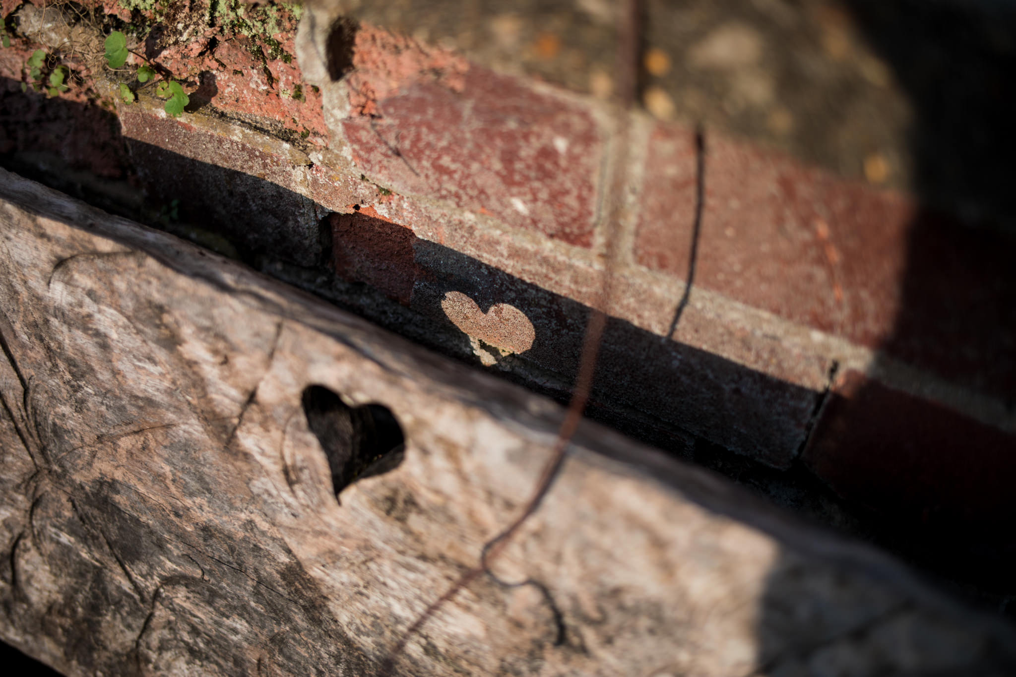 Photo of a heart on a wall taken during SNAP 2018