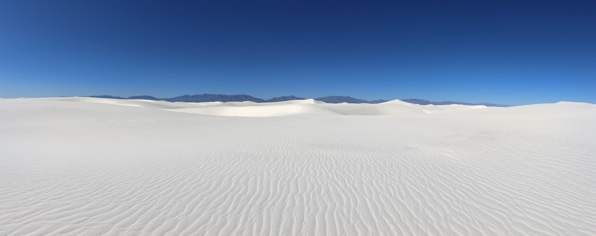 Morning in the heart of the dunes, White Sands National Monument, New Mexico.  Yes...