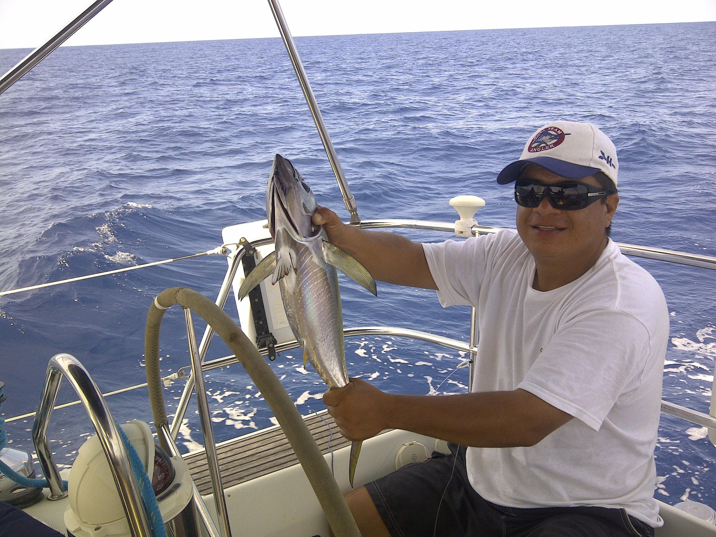 Captain Sergio with the days catch on his way to Ensenada