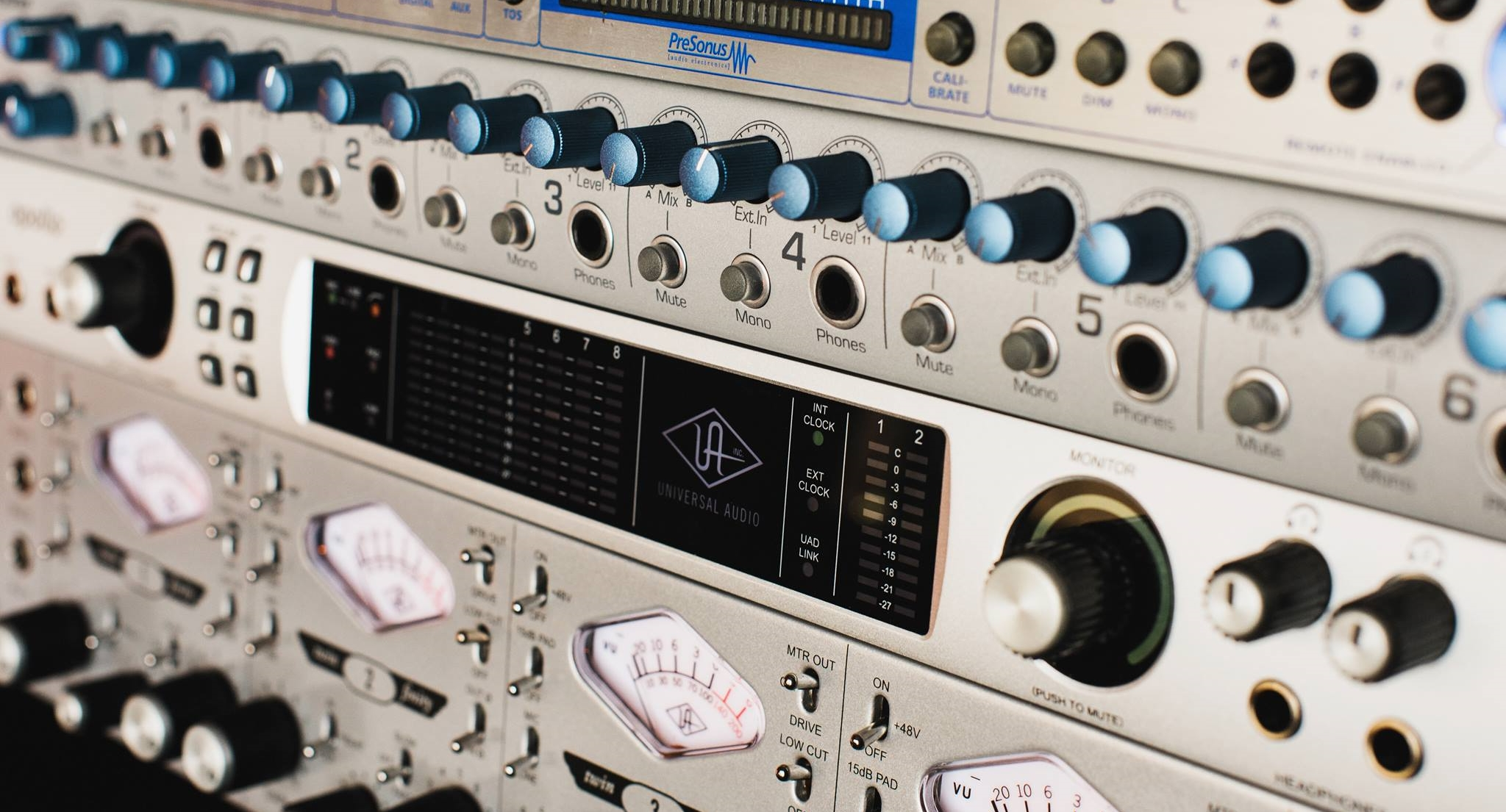 Universal Audio and Personus Gear