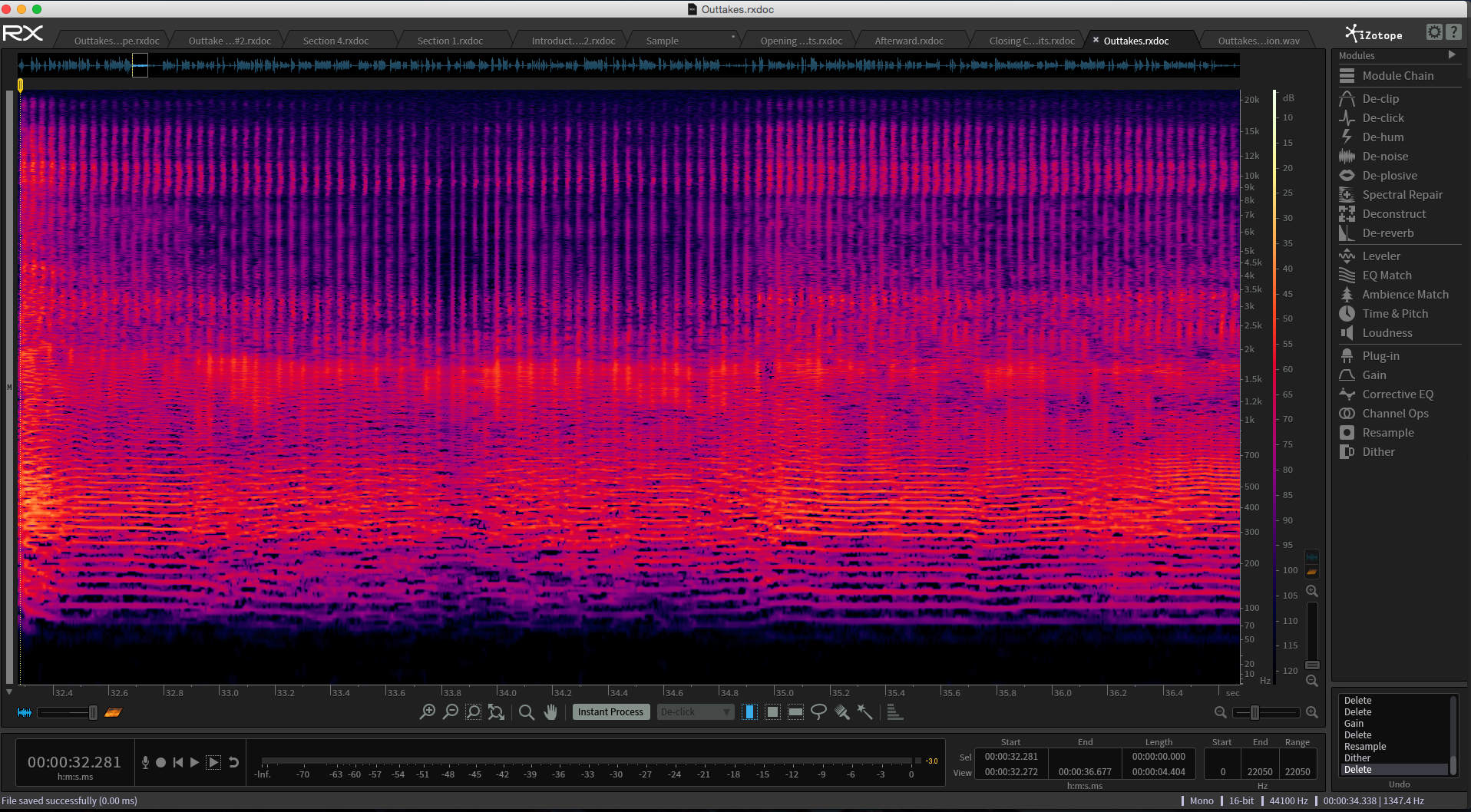 Izotope RX 5 Advanced - The most powerful post-production software suite on the market.