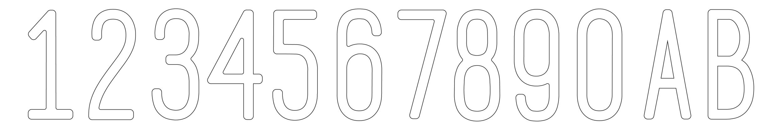 Javi Design Number Set
