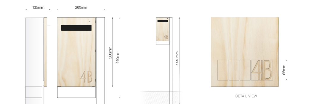 Post Mount Mailbox Design Specification