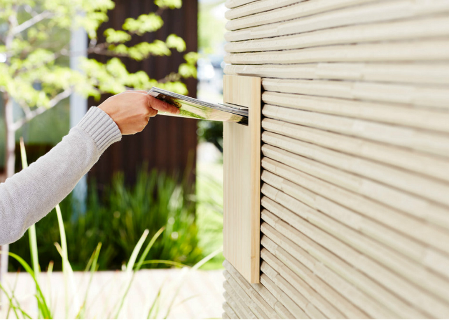 Fence Mounted Letter Box - Installed In Fence