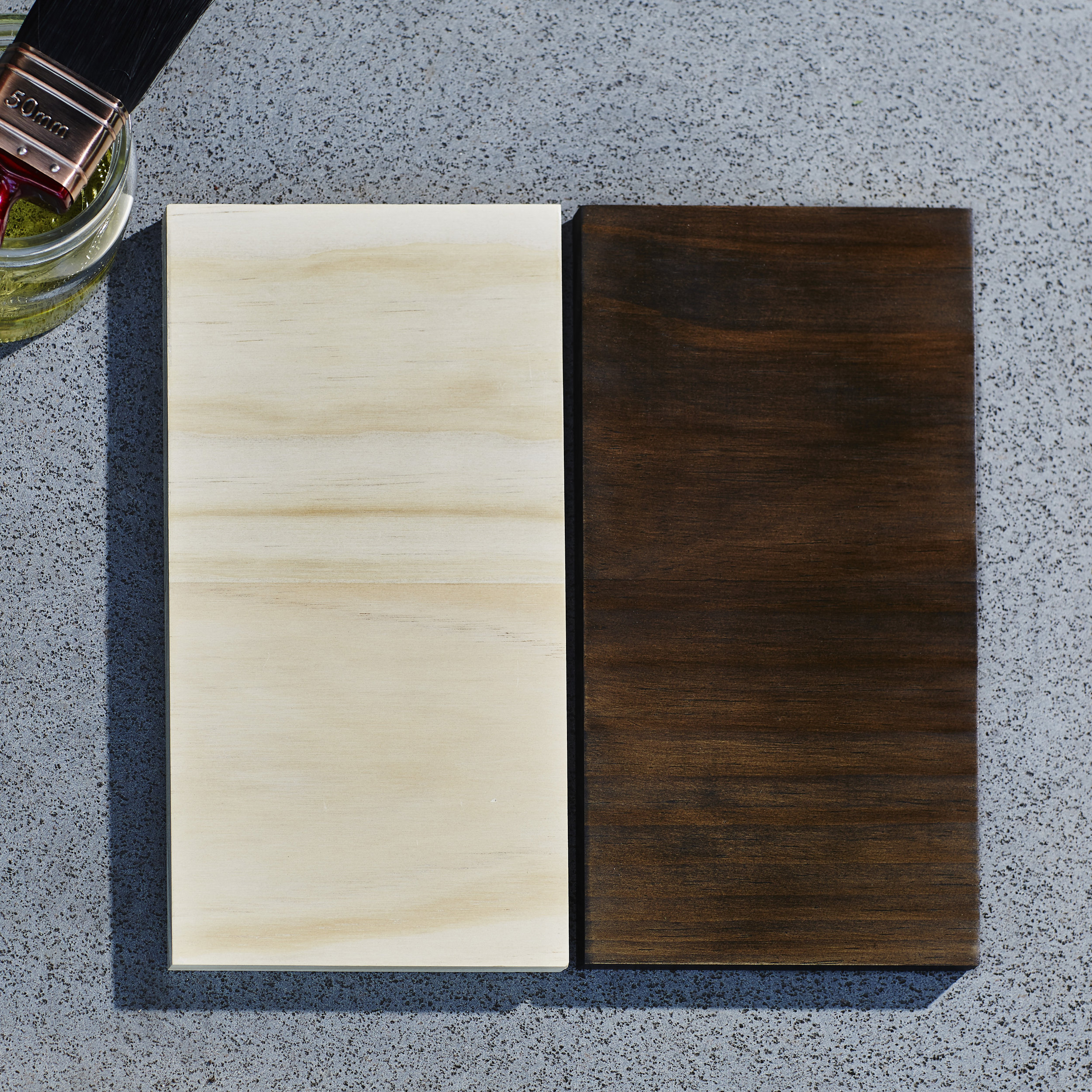 Clear or Dark stained finish options.