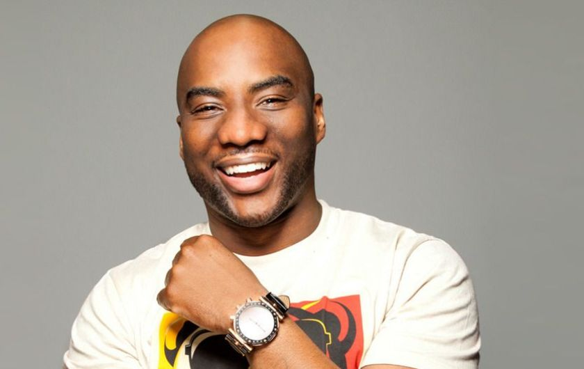 """Charlamagne Tha God @cthagod   Breakfast Club, Charlamagne & Friends, Guy Code  Called """"Hip-Hop's Howard Stern"""", Charlamagne is raw and unfiltered. His quick wits, brash opinions, and reputation for putting entertainers on the spot have made The Breakfast Club the top syndicated morning show in urban radio."""