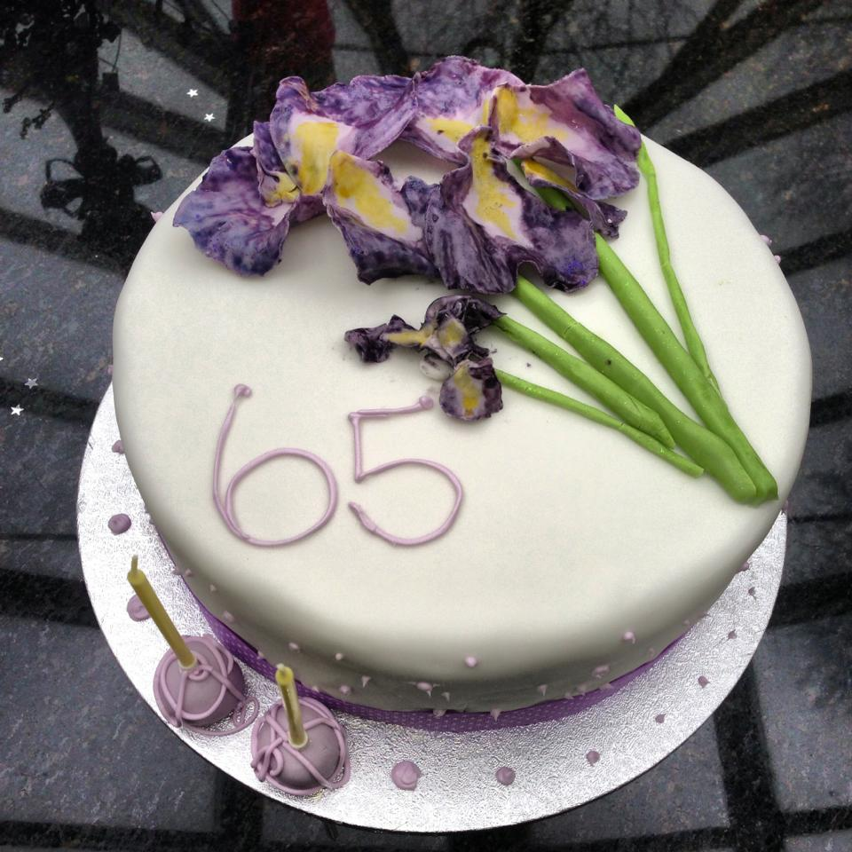 Iris flower cake