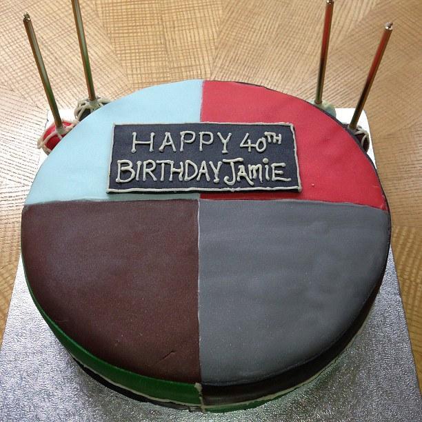 Harelquins' Quarters cake