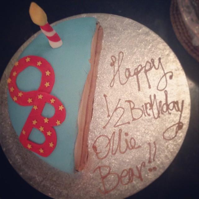 "A ""half birthday"" cake"