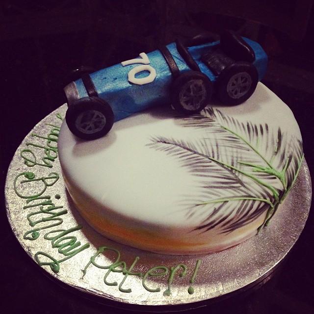 Vintage Bugatti cake