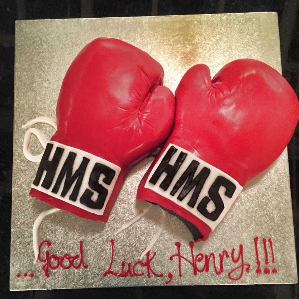 Boxing Gloves Cake.