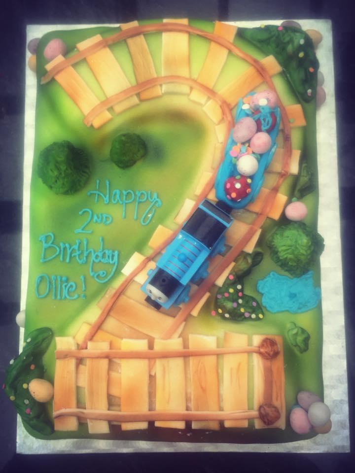 Thomas The Tank Engine themed cake