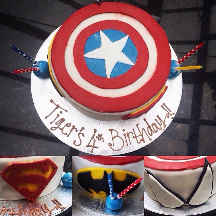 """""""Marvel"""" themed cake"""