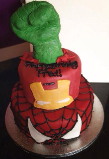Marvel Superhero Cake.