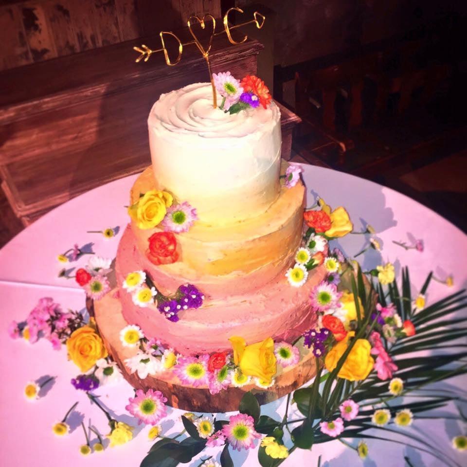 Ombré Wedding Cake