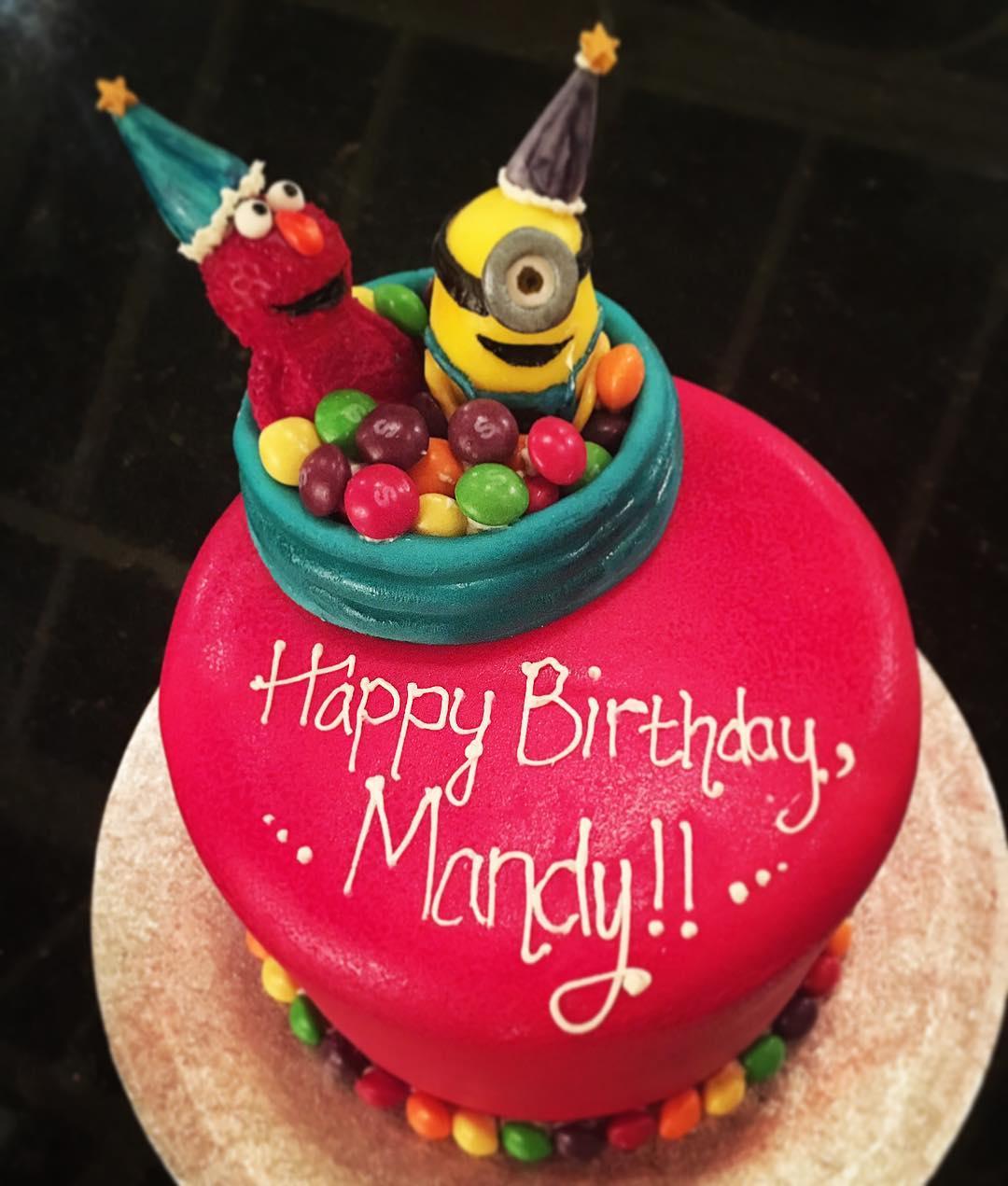 Mionion, Elmo & Skittles Rainbow Cake