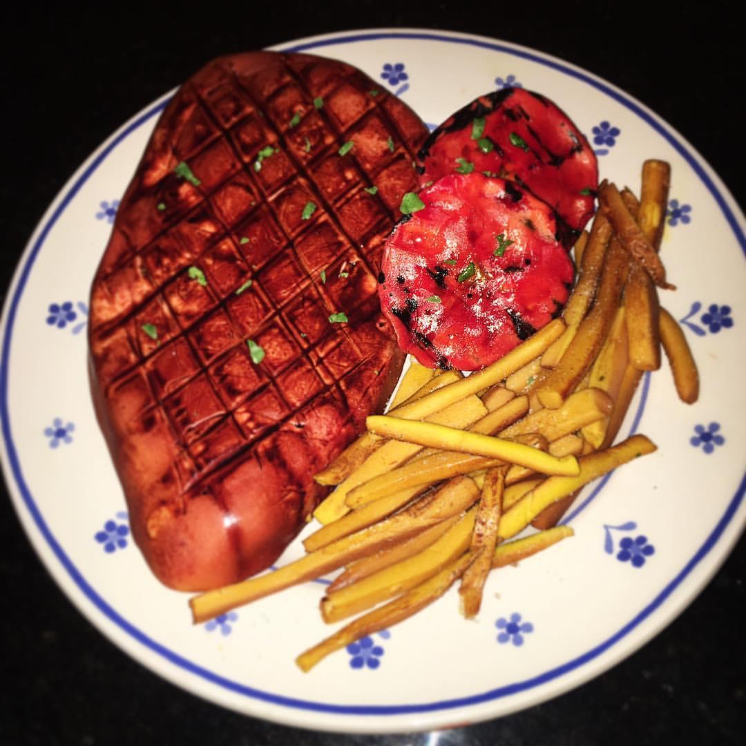 Steak & Chips Cake