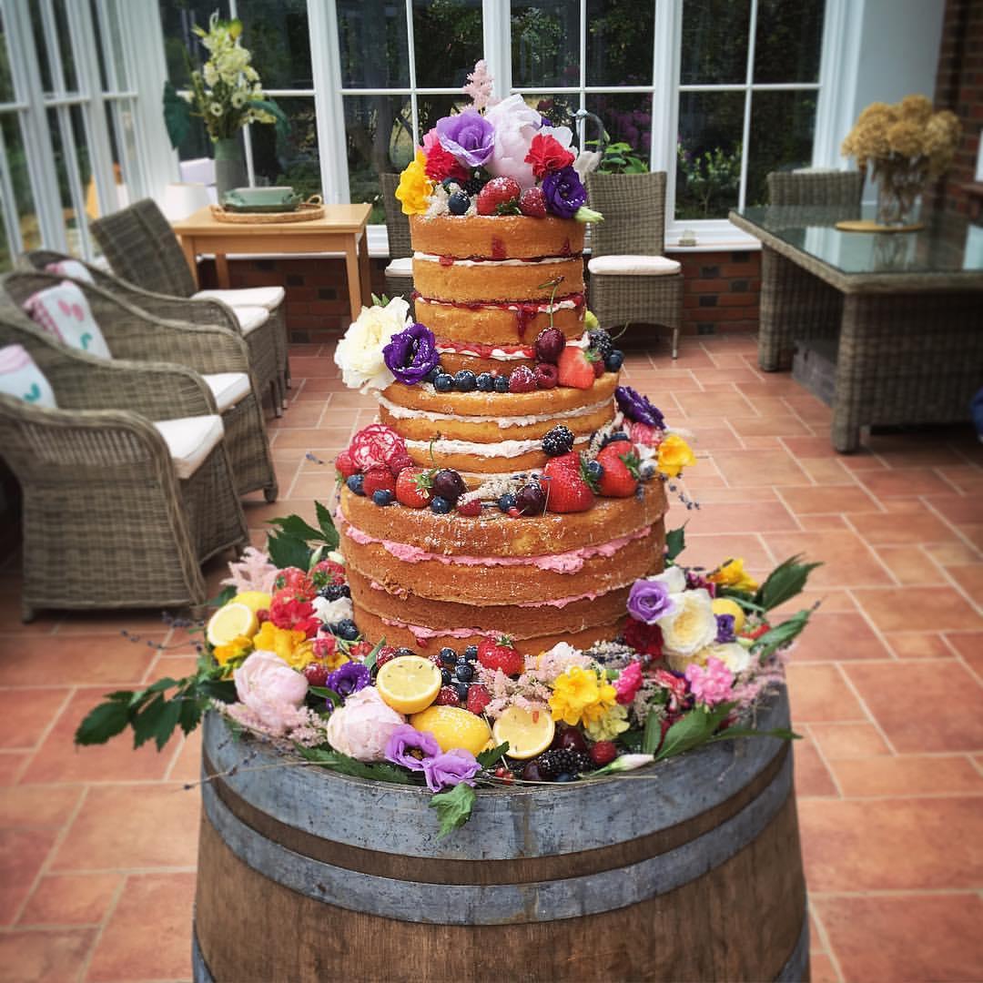 4 Layered Naked Wedding Cake.