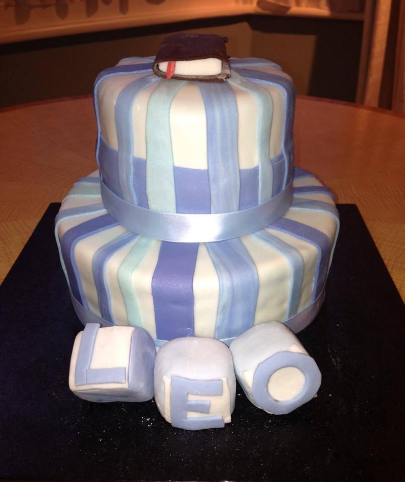 Boy's Baptism Cake.