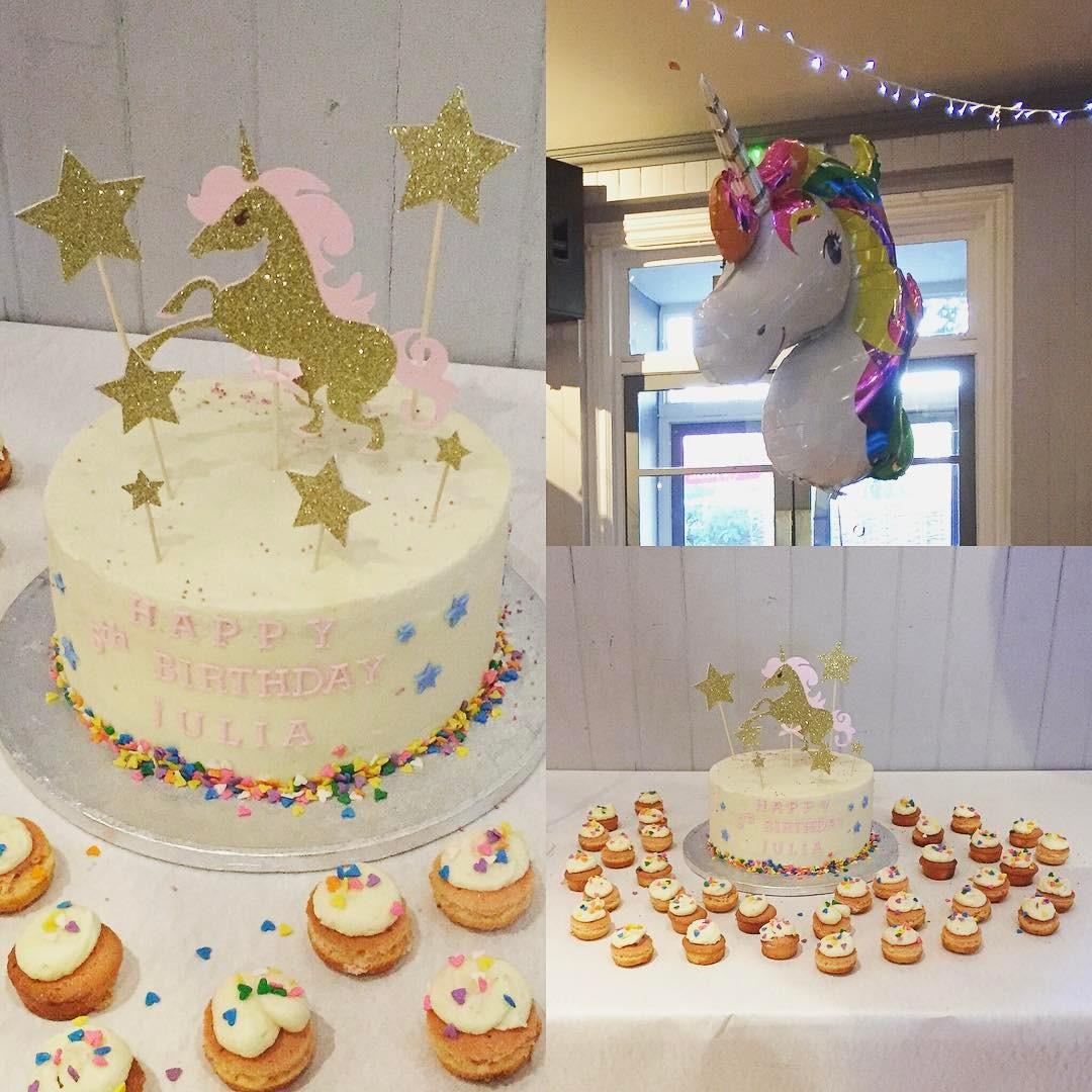 Unicorn Themed Rainbow Cake