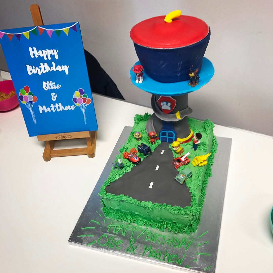 """Paw Patrol"" Lookout Tower Cake"