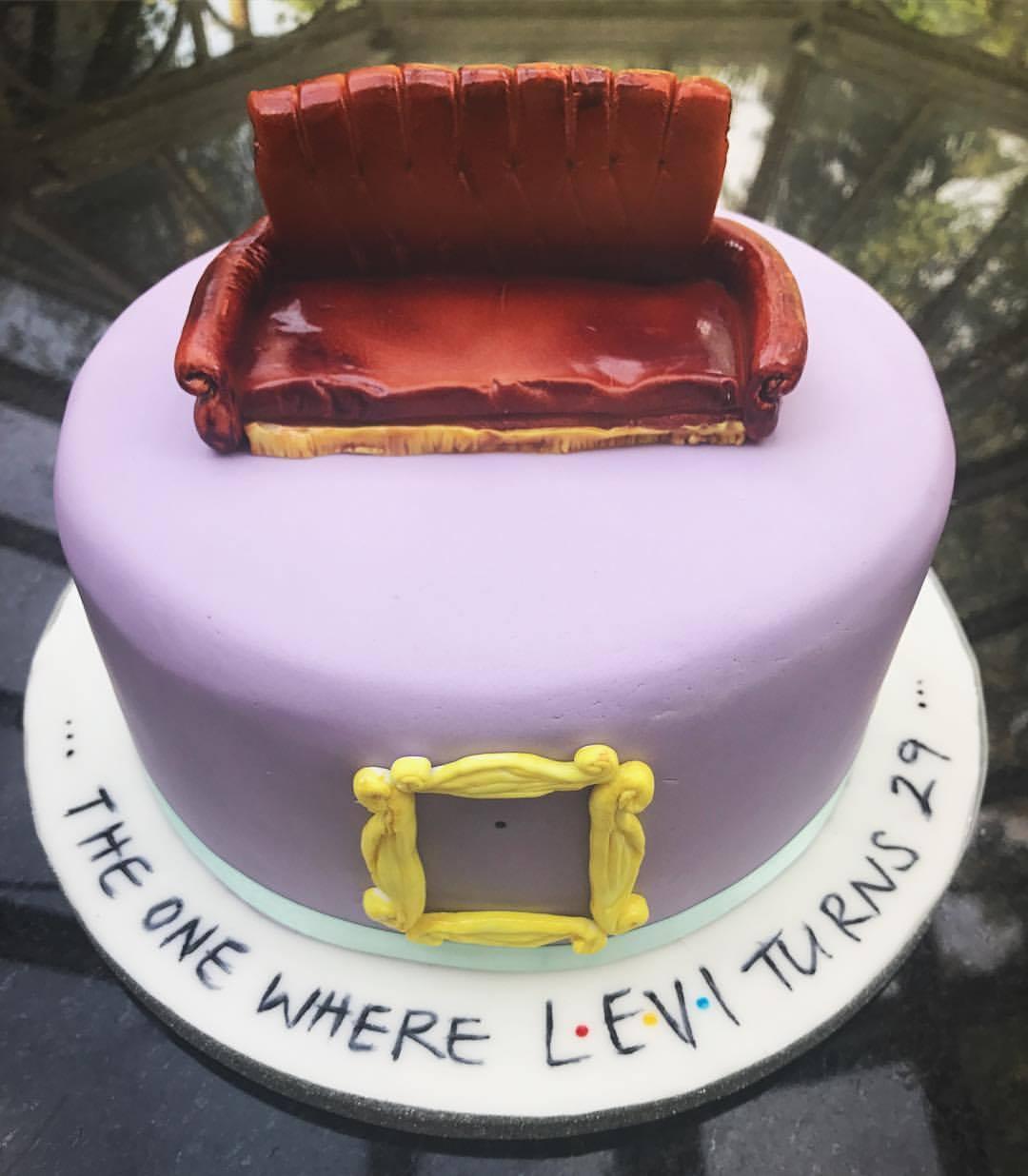 """Friends"" Inspired Rainbow Cake."
