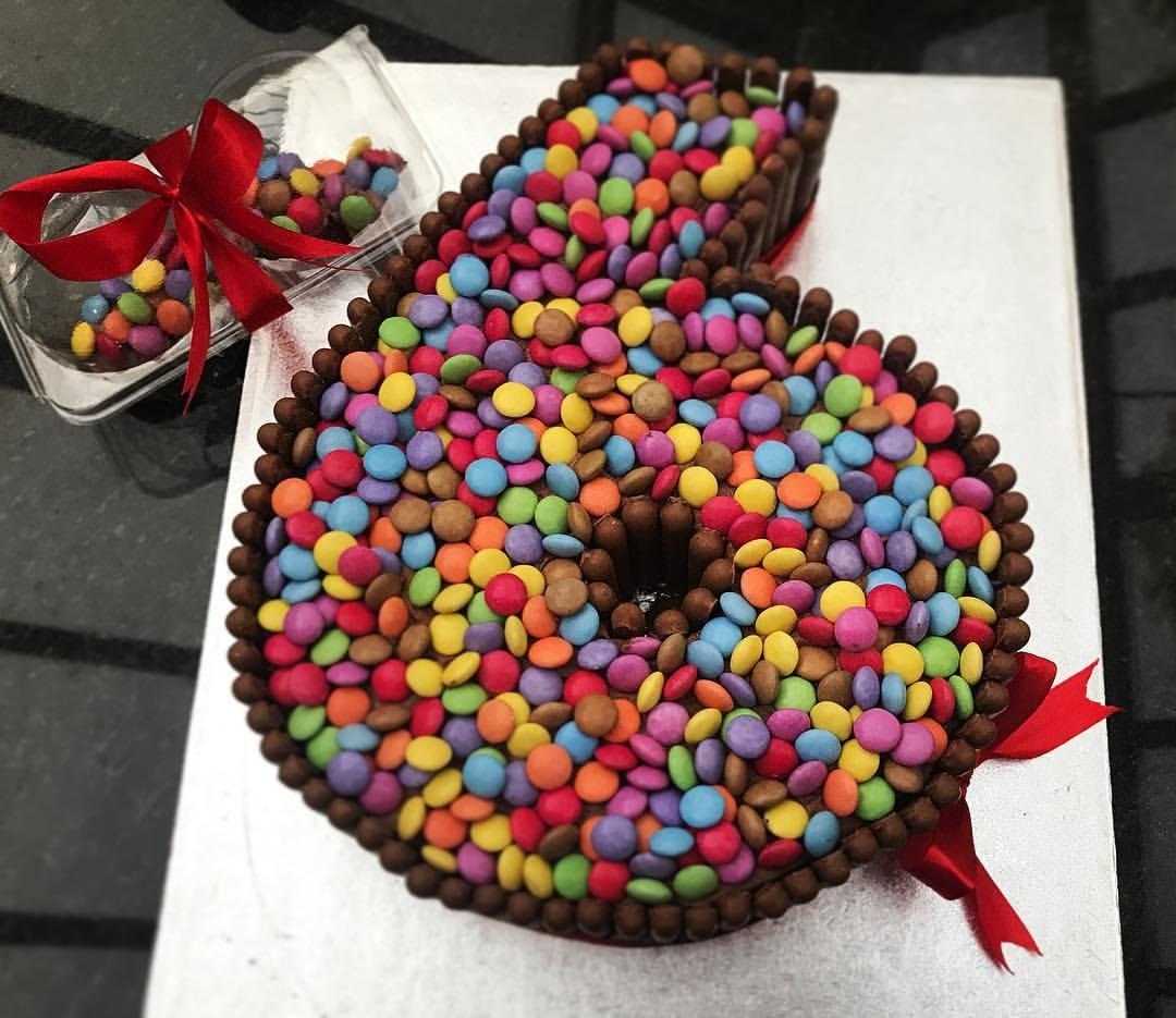 Smarties No.6 Cake.