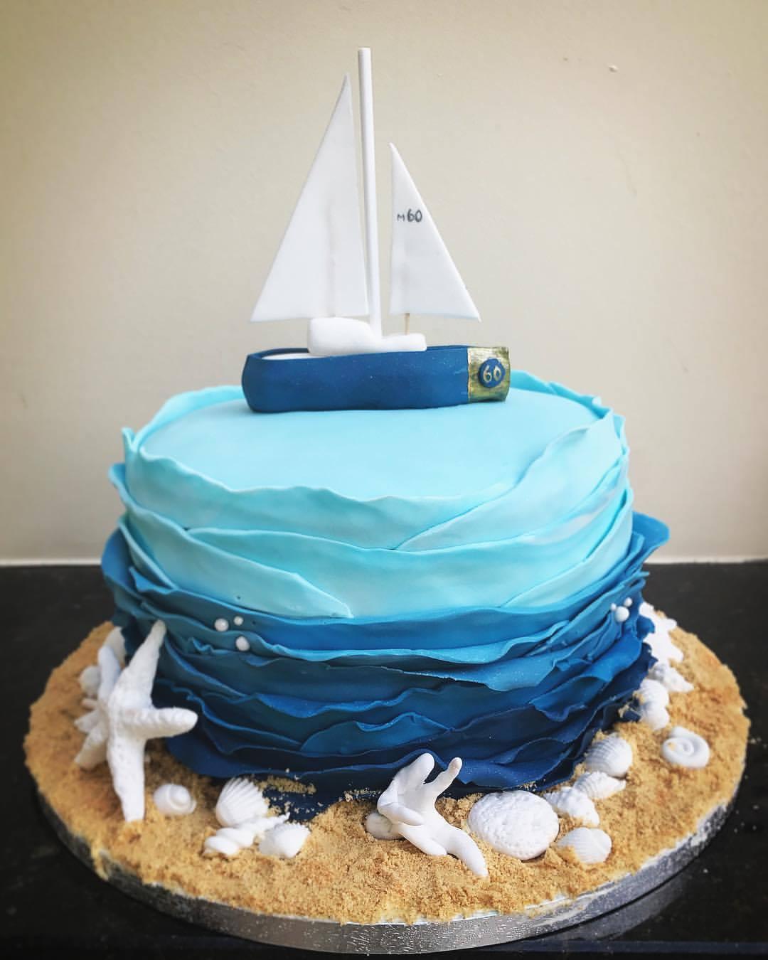 Sailboat Birthday Cake.