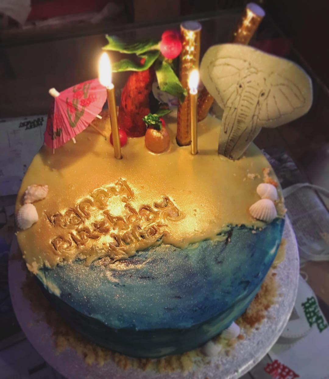 Thai Beach Inspired Cake.