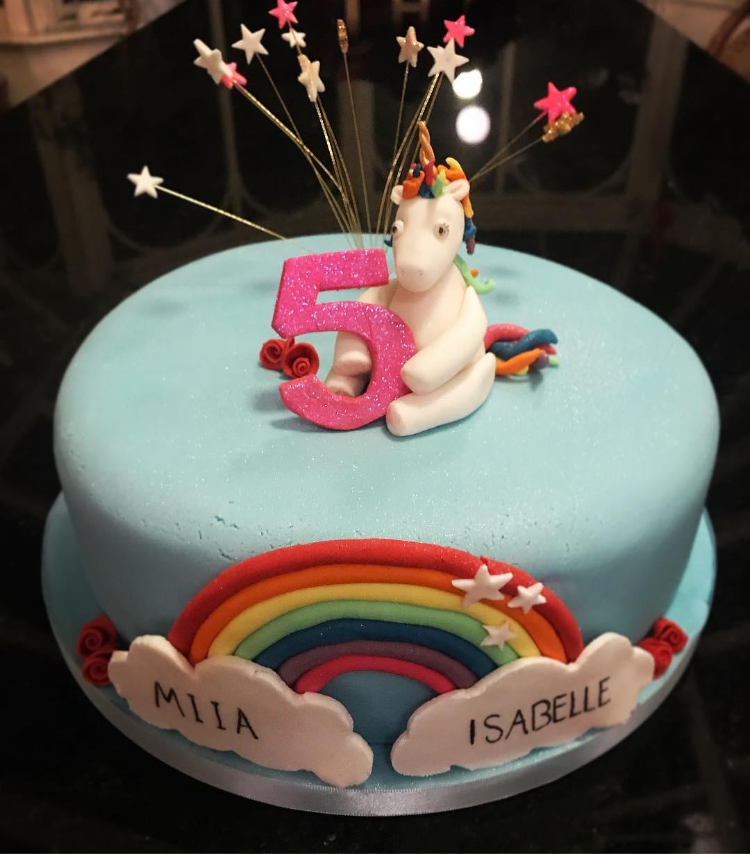 Unicorn and Rainbow Cake.