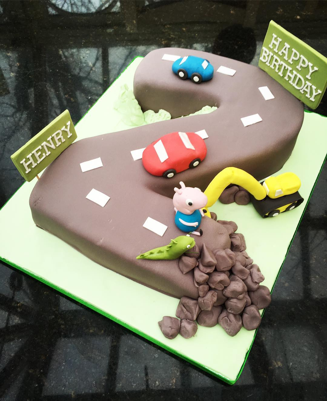 No. 2 Road, Digger, and George Pig Cake.