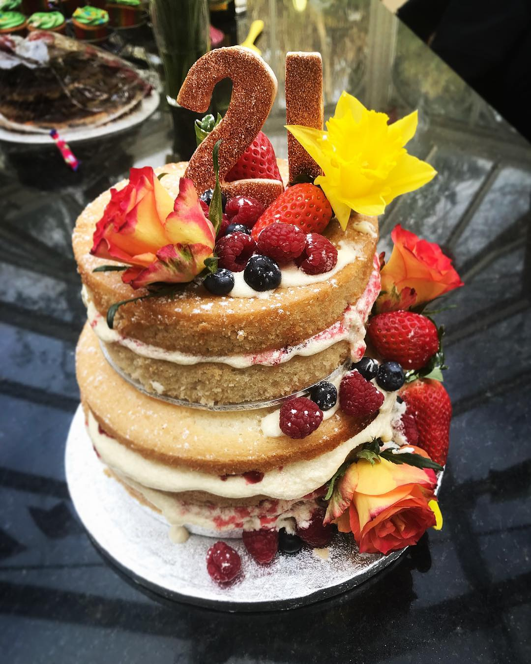 Vegan Naked Birthday Cake