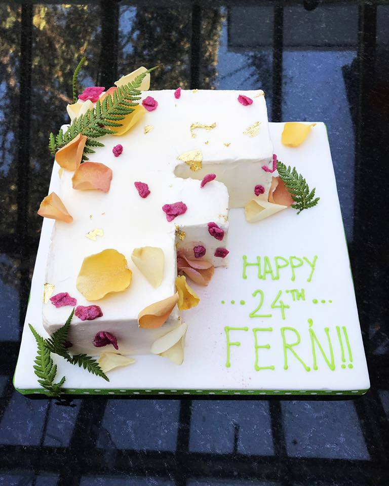 Letter Celebration Cake
