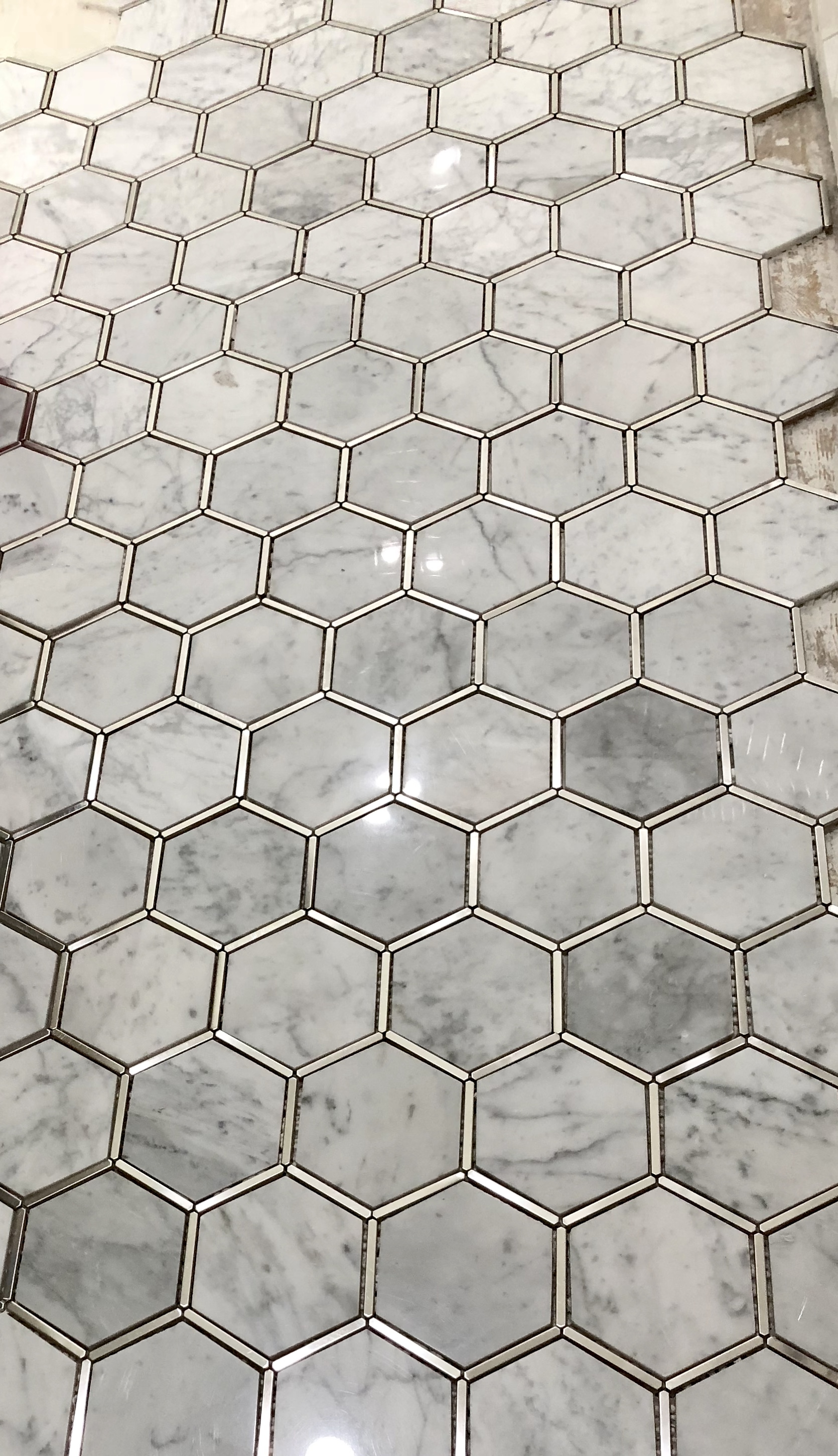 Can't wait to see how this looks once it's grouted!