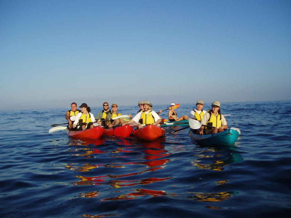group kayaking laguna beach